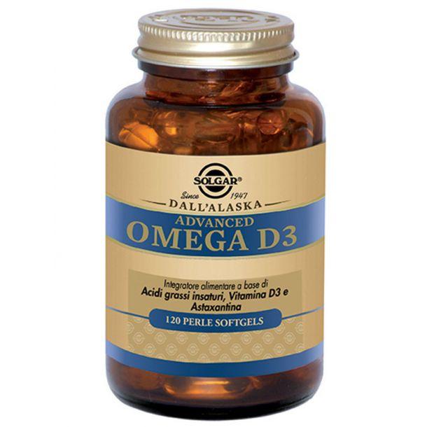 Solgar Advanced omega d3 olio di salmone selvatico d'Alaska 120 perle