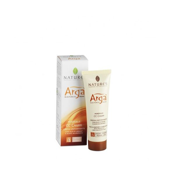 Argà Minerale CC Cream Viso Uniformante (Colore Medio-Scuro) 50 ml