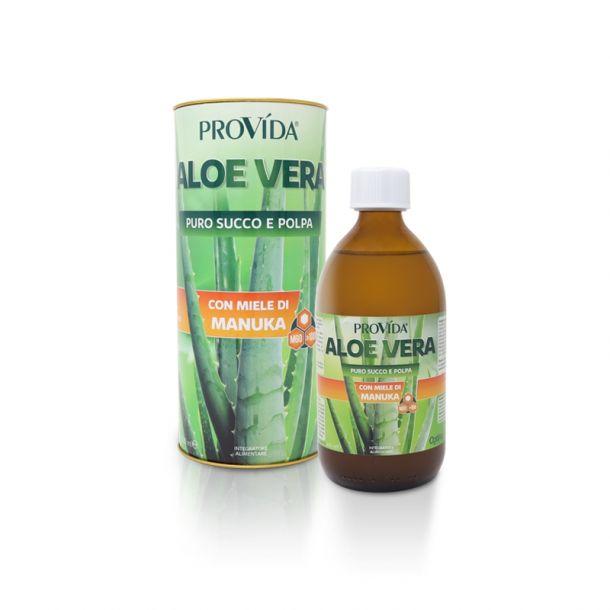 ProVida ALOE VERA - Puro Succo e Polpa da Agricoltura Biologica con Miele di Manuka