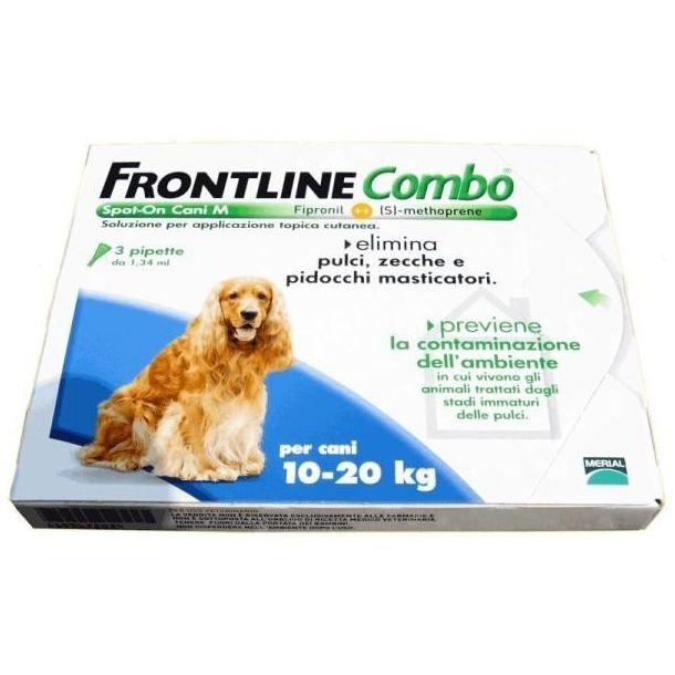 Frontline combo antiparassitario per cani da 10-20kg (3 pipette)