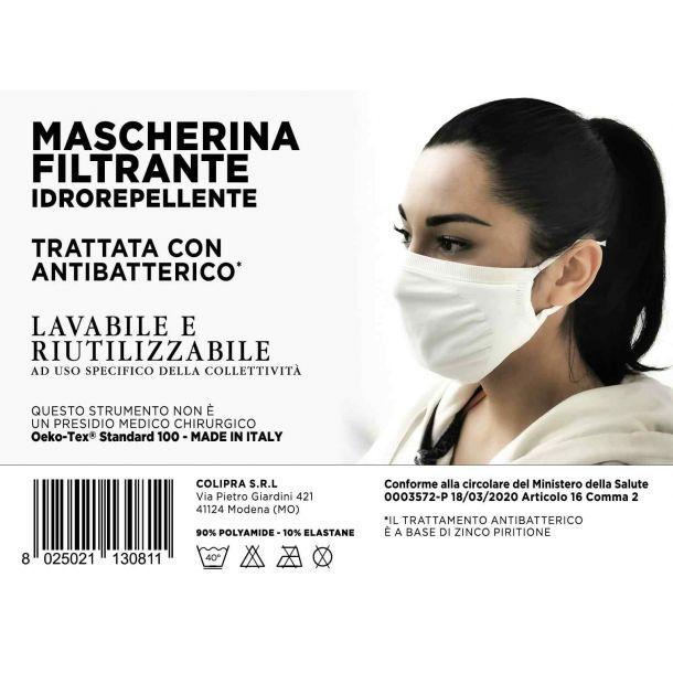 GUAM MASCHERINA FILTRANTE LAVABILE Bianca