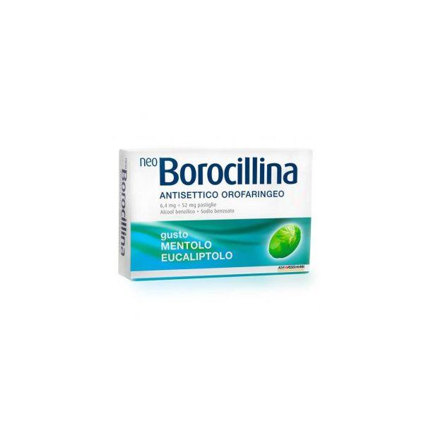 NeoBorocillina Antisettico Orofaringeo 16 pastiglie  gusto mentolo e eucaliptolo