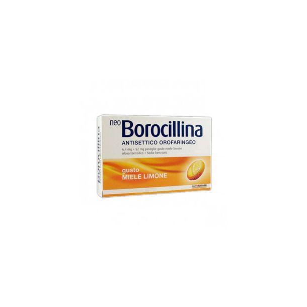 NeoBorocillina Antisettico Orofaringeo 16 pastiglie  gusto miele e limone
