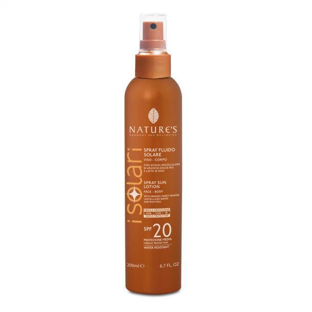 Nature's Spray Fluido Solare SPF 20