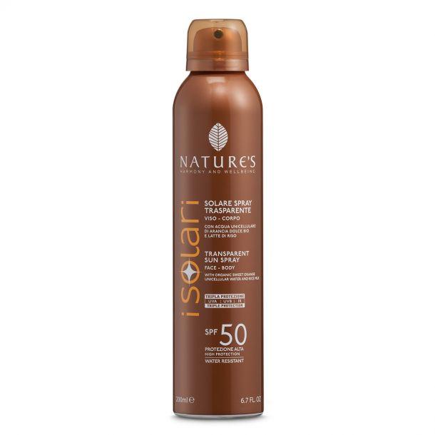 Nature's Solare Spray Trasparente SPF 50
