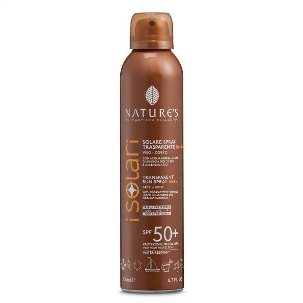 Nature's Solare Spray Trasparente SPF 50+