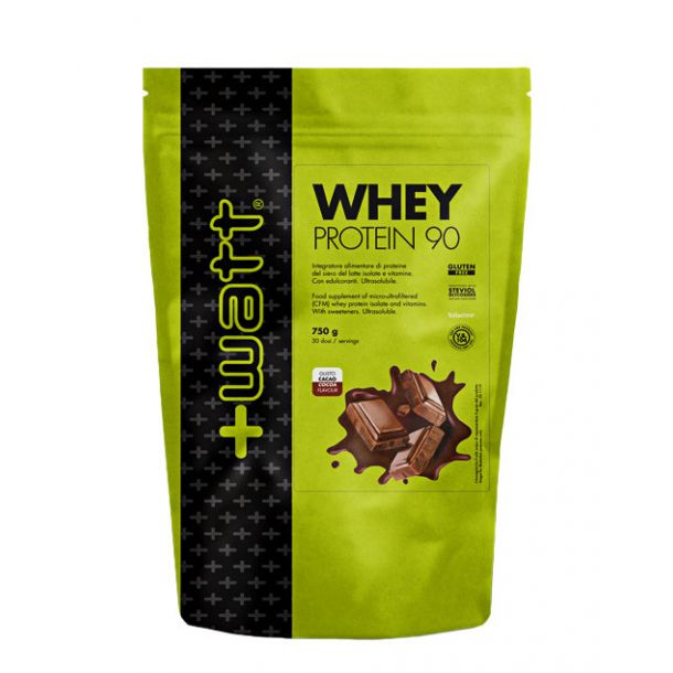 +Watt Whey Protein 90 (doypack 750g-cacao )